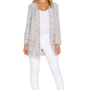 Joie Philisa Boucle Sweater Jacket Linen Blend